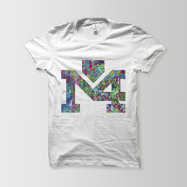 KIDS: Splattered Logo White Tee