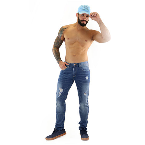 Ripped Slim Fit Jean 1022