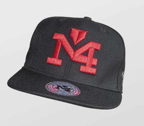 Red and Black Yadi Signature Collection Cap 1033