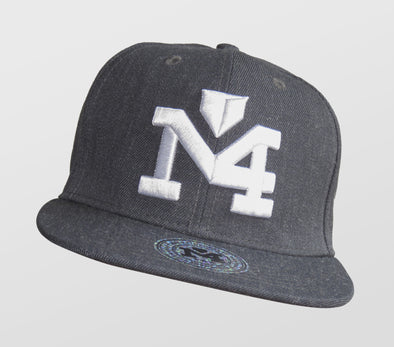 Gray & White Yadi Signature Collection Cap 1032