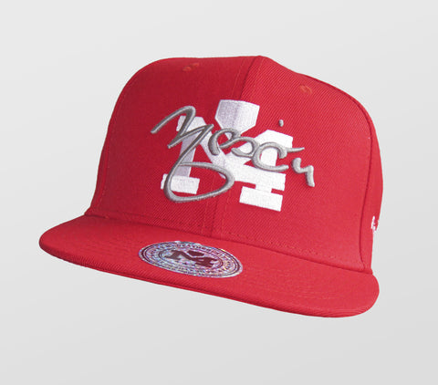 Red & White Front Yadi Signature Collection Cap 1034