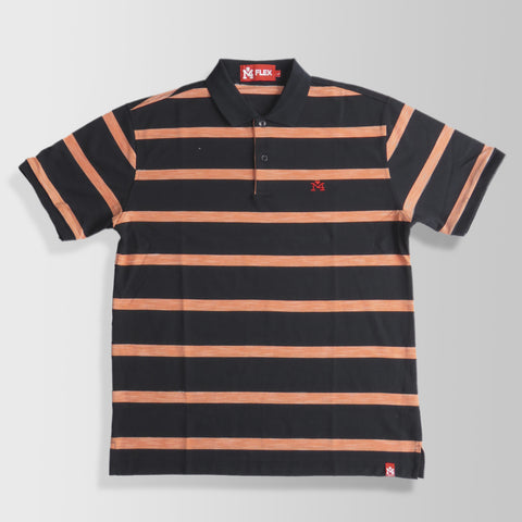 Black & Orange Stripes Polo Shirt