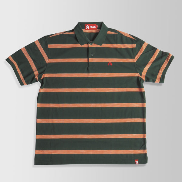 Green & Orange Stripes Polo Shirt