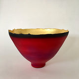 Stoneware bowl in red by Cheryl Williams at Cottage Curator - Sperryville VA Art Gallery