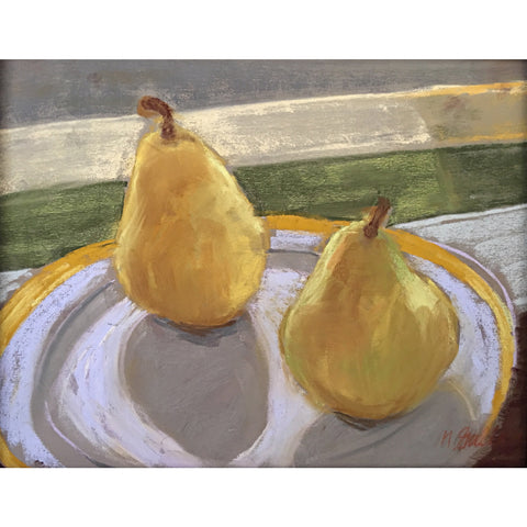 Two Pears on a Plate 2