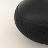 Black Textured Jar