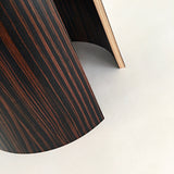 Detail of rounded wood end table pedestal by Richard Judd at Cottage Curator - Sperryville VA Art Gallery