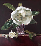 Magnolia and White Rose