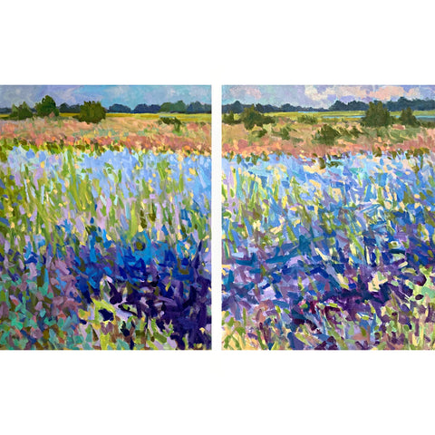 Blues, Tidal Wash [Diptych]