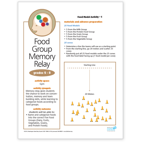 Food Model Activity 1-Food Group Memory Relay-Free Download