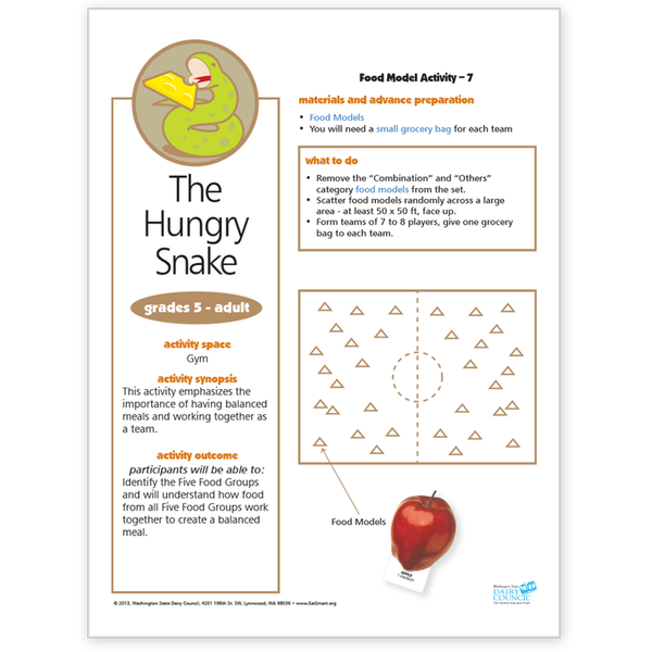 Food Model Activity 7-The Hungry Snake-Free Download