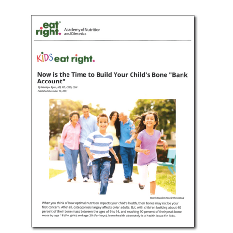 Build Your Child's Bone Bank-Free Download