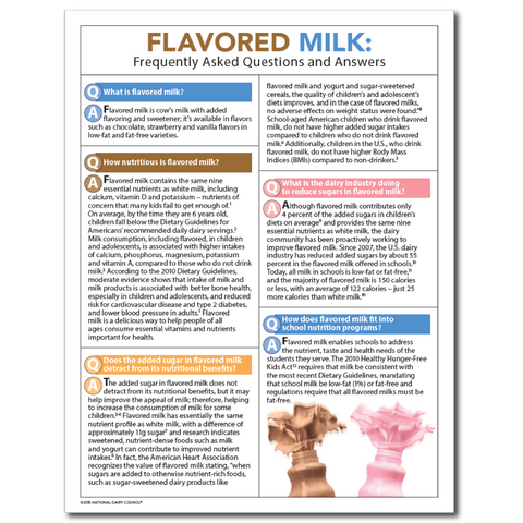 Flavored Milk FAQs