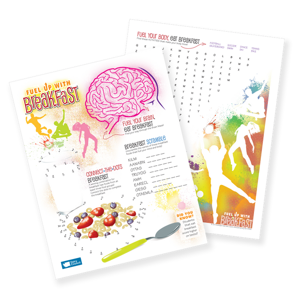 Fuel Up With Breakfast Activity Sheet- Free Download