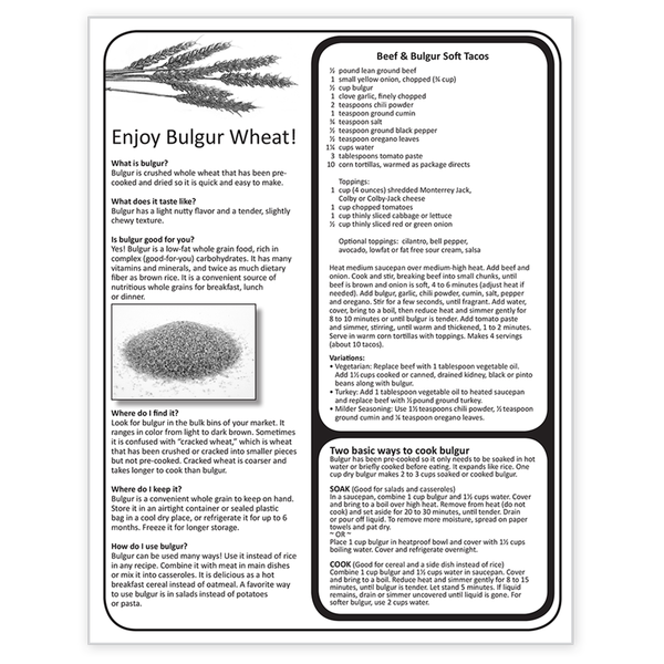 Enjoy Bulgur Wheat! Dairy and Bulgur Recipes-Free Download