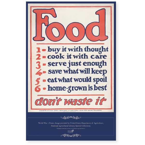 Food: Don't Waste It Poster