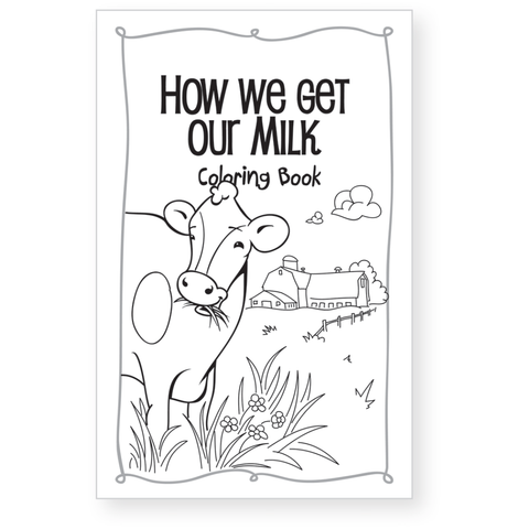 How we get our Milk Coloring Book
