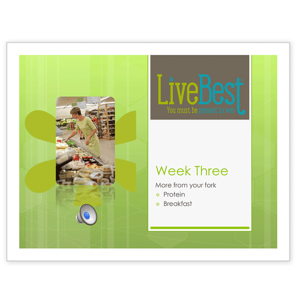 LiveBest 6-week Healthy Eating Program-Week Three