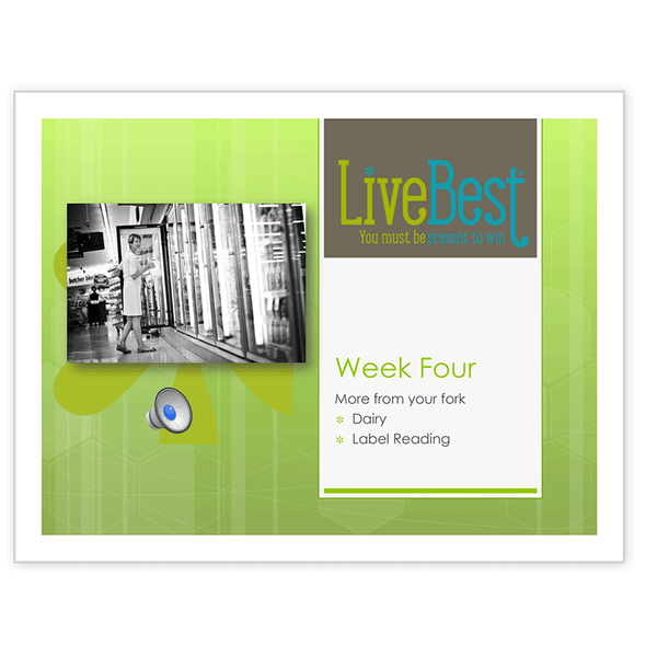 LiveBest 6-week Healthy Eating Program-Week Four-Free Download