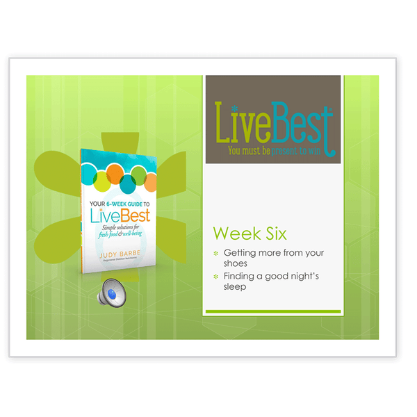 LiveBest 6-week Healthy Eating Program-Week Six