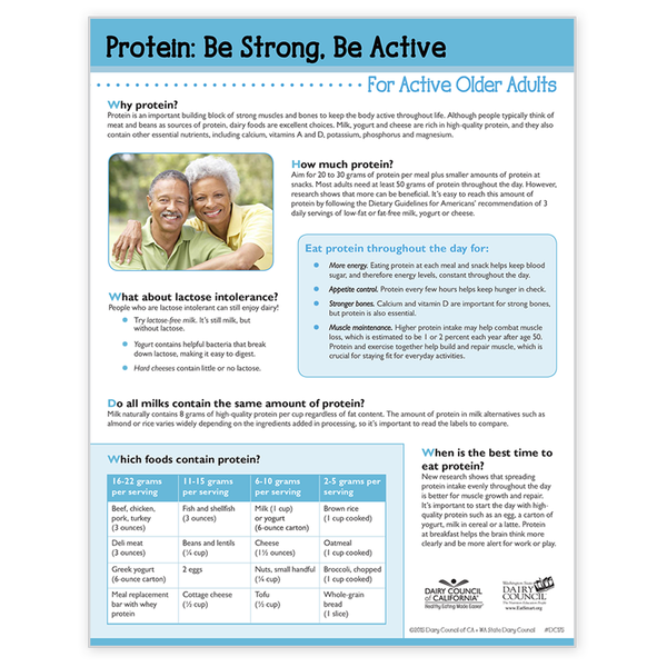 Protein: Be Strong, Be Active...for Active Older Adults