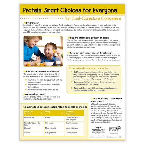 Protein: Smart Choices for Cost Conscious Consumers