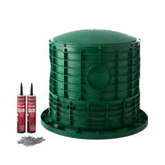 "20"" x 20"" Septic Tank Riser Kit Domed Lid"
