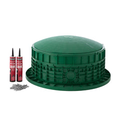 "24"" x 11"" Septic Tank Riser Kit Domed Lid"