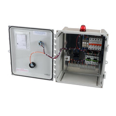Grinder Pump Duplex Control Panel 220V Front Open View