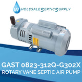 Gast 0823-312Q-G302X Rotary Vane Septic Air Pump