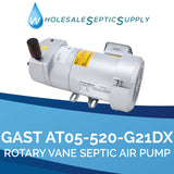 Gast RV03-315-G649DX Replacement Rotary Vane Septic Air Pump