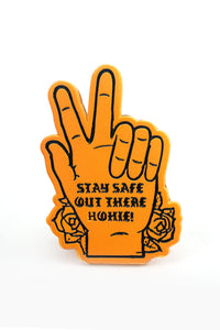 Stay Safe Orange Pin