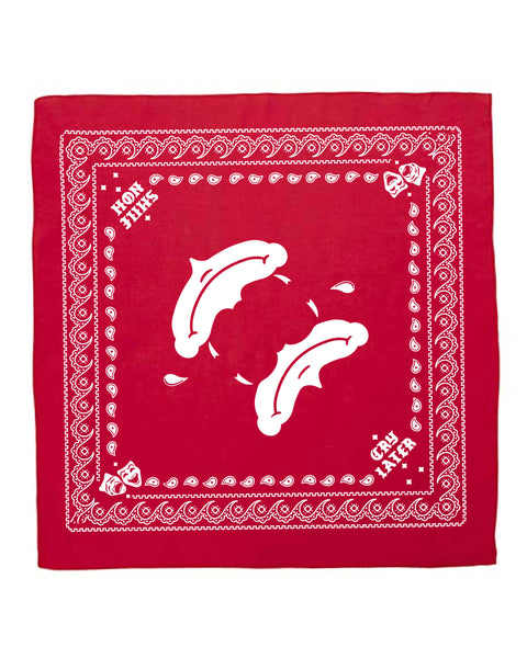 Smile now cry laters bandana, Red