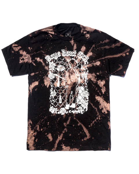 Boys Dont Cry (bleach dyed) Short Sleeve, Black
