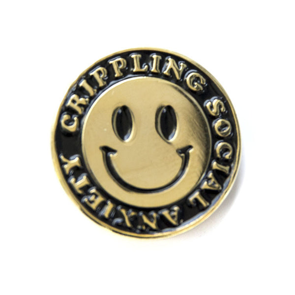 Anxiety Gold Pin