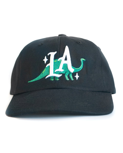Dinosaur LA, unstructured cap, Black