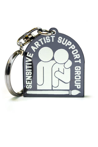 Accesory: Sensitive artist support group Keychain, Smoke