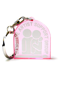Sensitive artist support group Keychain, Pink