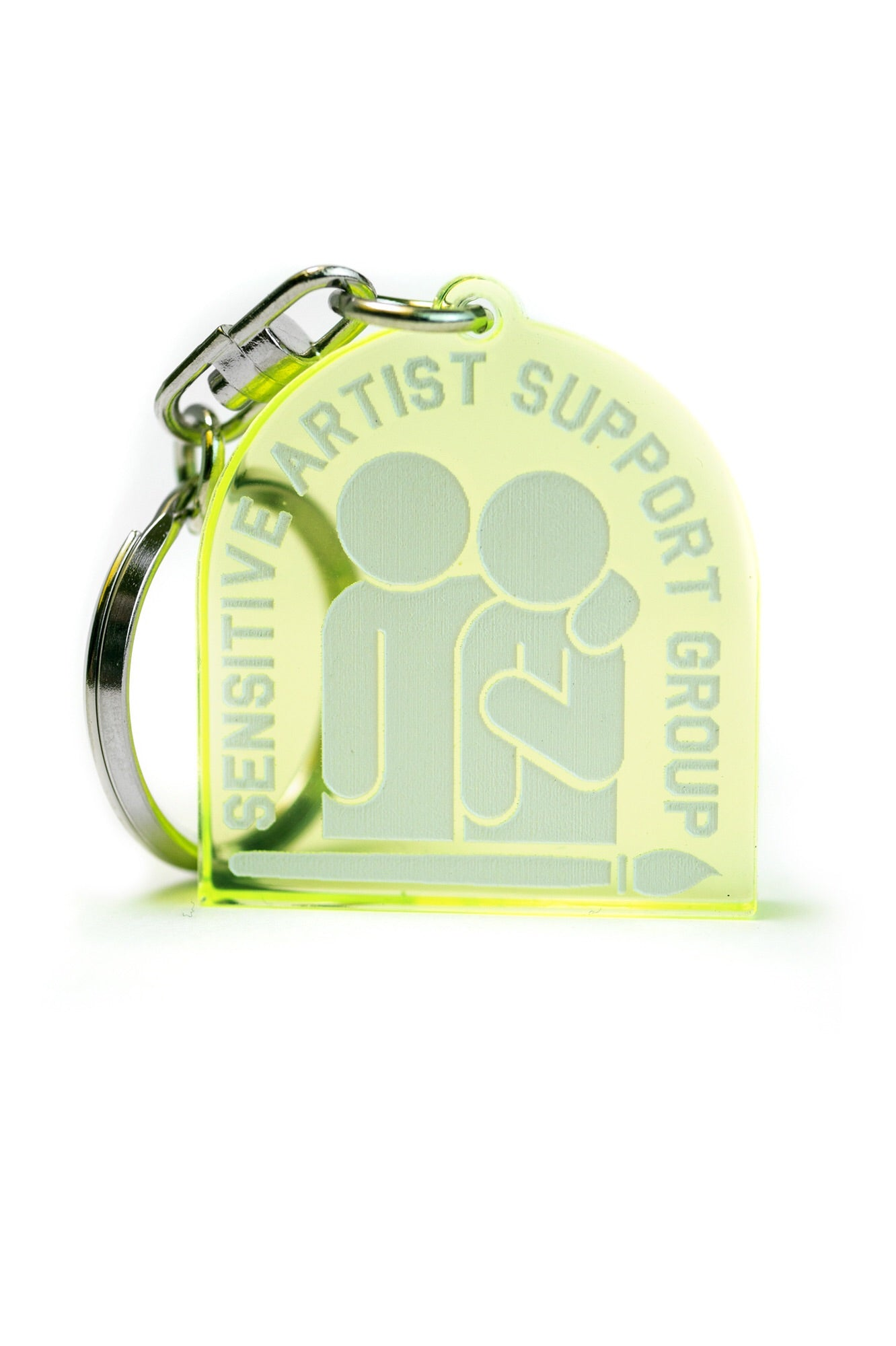 Sensitive artist support group Keychain, Green
