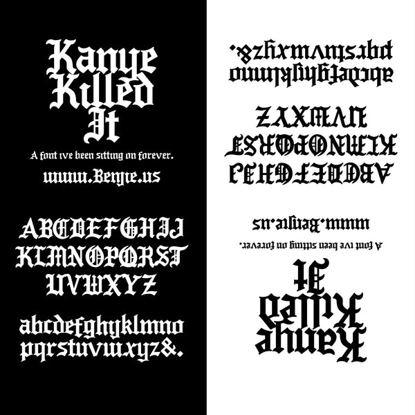 FREE Kanye Killed It Font