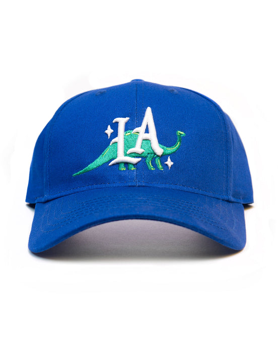 Dinosaur LA, youth small fit cap, Royal Blue