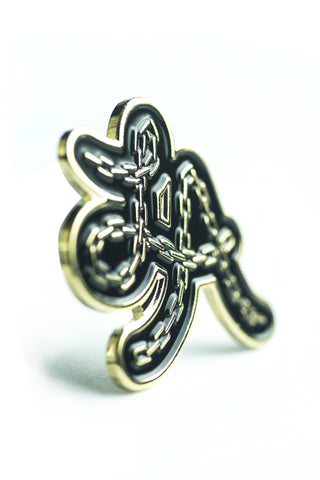 Pin: LA chain, gold