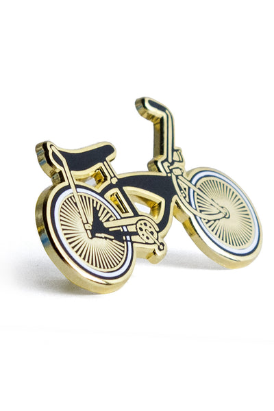 Lowrider bike, gold pin