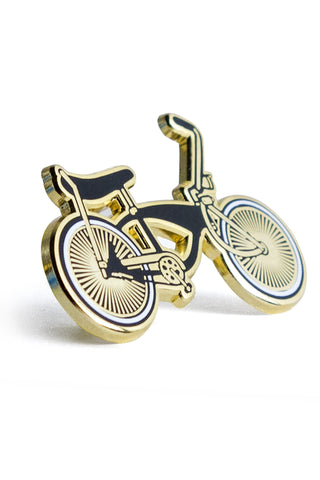Pin: Lowrider bike, gold