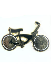 Lowrider Bike Gold Pin