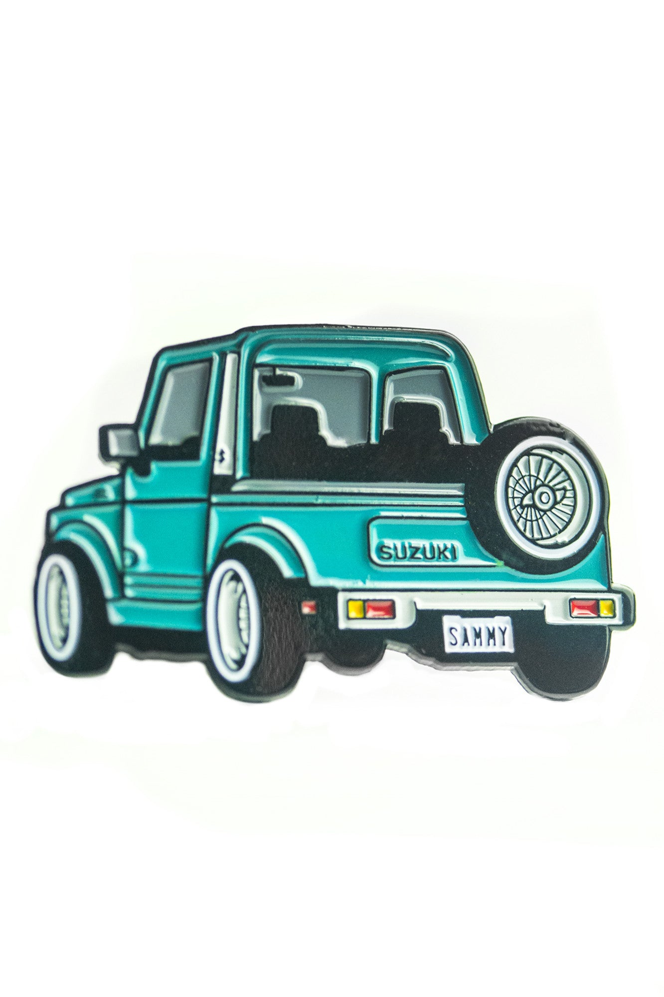 Samurai Teal Pin