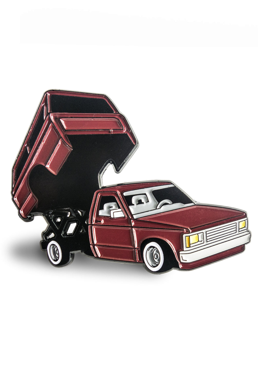 Mini Truck Burgundy Pin