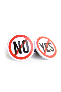 Yes No Pin Set