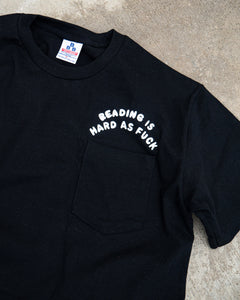 Reading is...  Short Sleeve Pocket T, Black