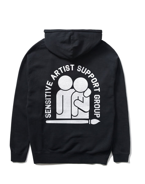 Sensitive Artist Support Group Pullover, Black